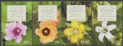 CKI SG442a-4a Flowers of Cocos (Keeling) Islands set of 4 in pairs